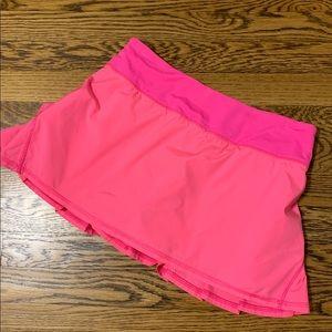 Lululemon hot pink pacesetter skirt. Size 6.